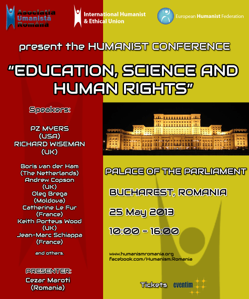 IHEU Conference in Romania, May 2013