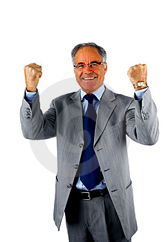 Stock Photography - Businessman Excited About His Success