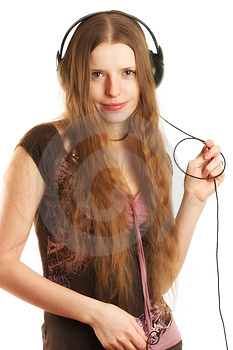 Stock Photos - Woman in headphones