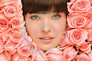 Free Stock Photography - Floral girl.