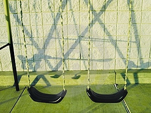 Stock Image: Swingset And It's Shadow Picture. Image: 223671