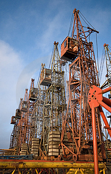 Stock Images - Old elevating cranes