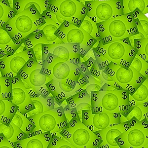 100 Dollar Bills Background Stock Photography