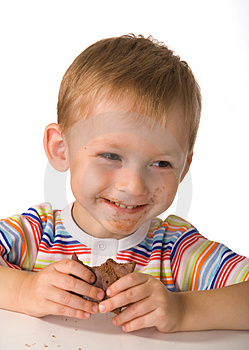 Stock Images - The child with a chocolate