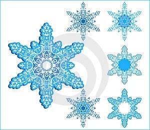 Free Stock Photo - Vector snowflakes