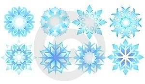Stock Photos - 8 ice crystals