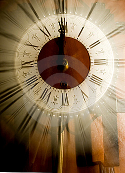 Stock Images - Old vintage clock