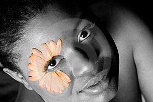 Stock Image - Flower Girl