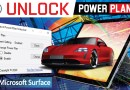 Unlock Power Plans for Microsoft Surface by FTT