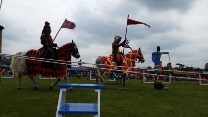 The medieval jousting at Blenheim Palace