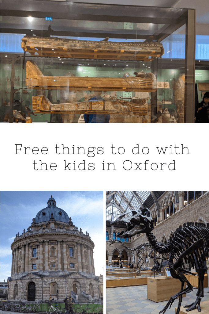 Free things to do with the kid sin Oxford | Free Time with the Kids