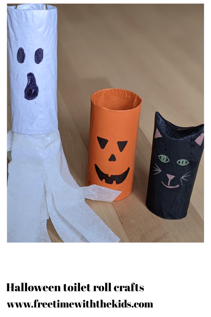 Toilet roll Halloween crafts for kids | Easy Halloween crafts | Free Time with the Kids