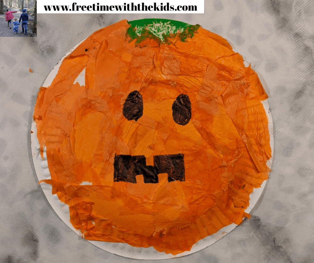 Pumpkin Halloween paper plate crafts for kids and toddlers | Easy Halloween craft ideas | Free Time with the Kids