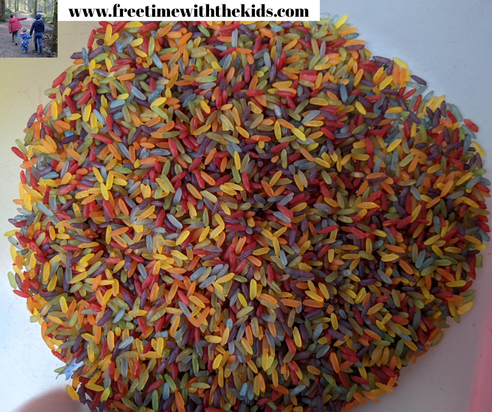 How to make rainbow rice   Toddler sensory activity   Free Time with the Kids