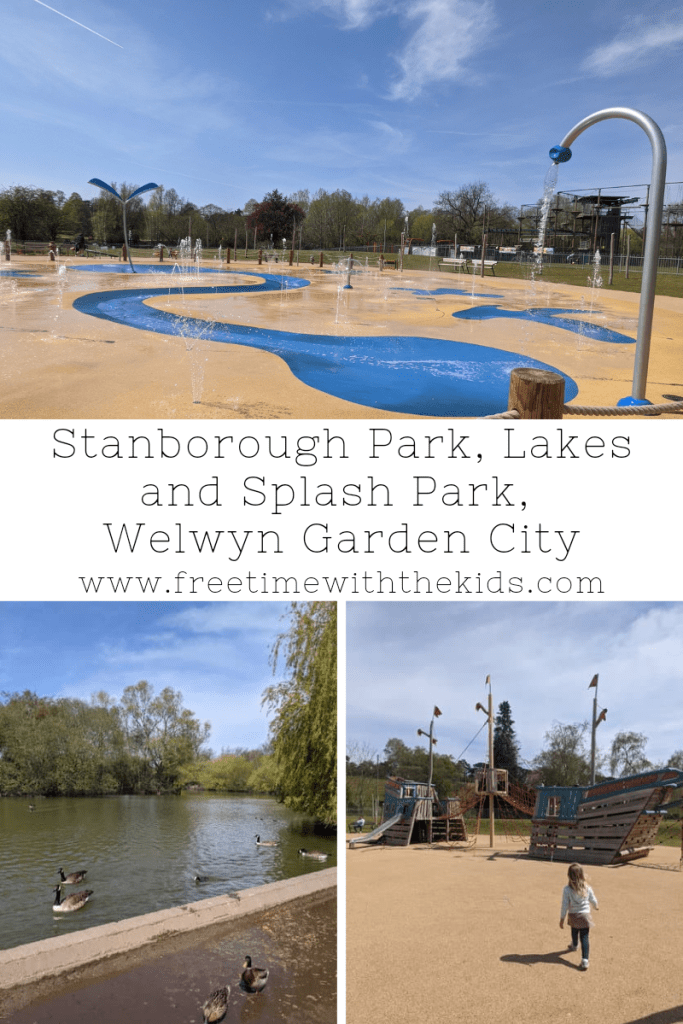 Splashlands at Stanborough Park | Lakes, splash park, adventure playground & family walks | Welwyn Garden City, Hertfordshire | Review by Free Time with the Kids