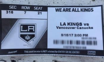 LA Kings Ticket