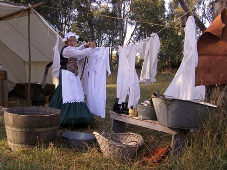 A busy laundress!