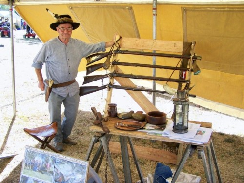 Jim promoting flintlocks, and the Southern Cross Free Trappers club.