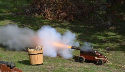 Jenny & Gary Baker's ship's signal cannon firing-on…. Photo by Michelle