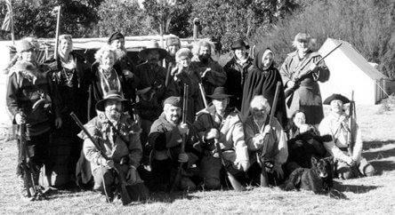 Early group photo taken at Andrew's farm, from our Volume 2 newsletter archive.