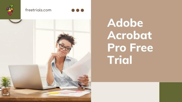 Adobe Acrobat Pro Free Trial Header Image