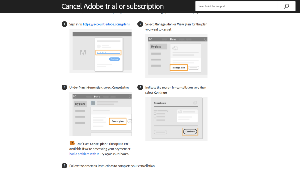 How to Cancel Adobe Animate Free Trial