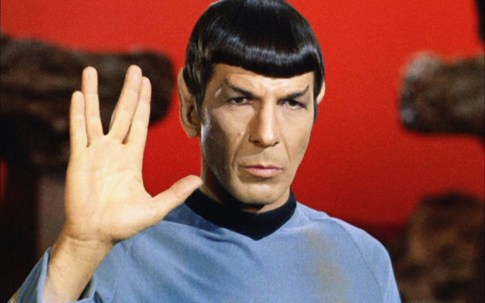 Spock giving the vulcan salute for Paramount+