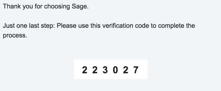 Sage - Account set up