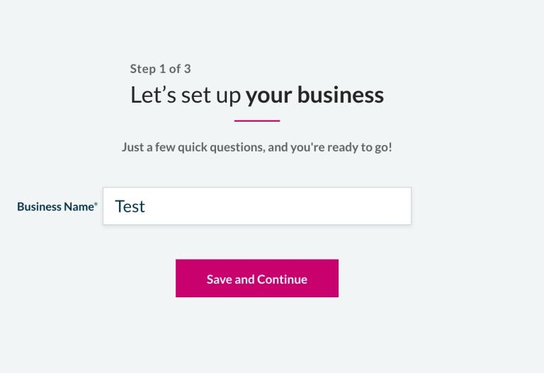 Sage - Business Name set up