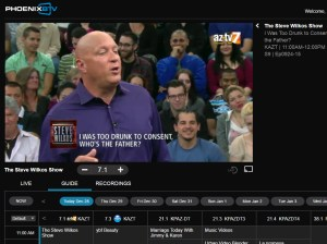 PhoenixBTV live TV grid