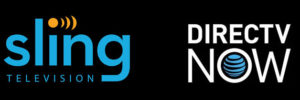 Logos for Sling TV and DirecTV Now