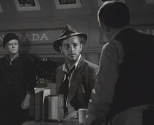 Three men at an old diner