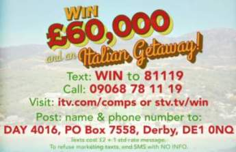 Loose Women Competition Italy Holiday