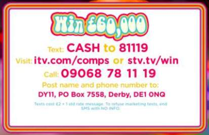 £60,000 competition ITV 2018