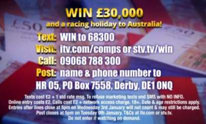 Melbourne cup competition and £30,000
