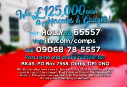 Lorraine £125,000 competition