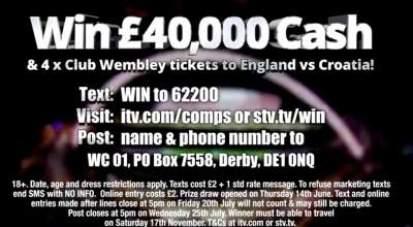 ITV football prize draw 2018
