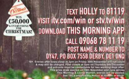 Loose Women Christmas Prize Draw 2018
