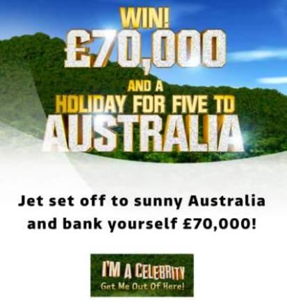 I'm a Celebrity Prize Draw ITV 2018