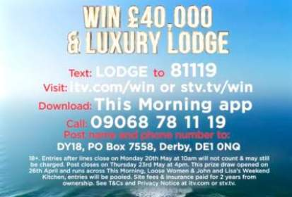 Loose Women Holiday Home Prize ITV