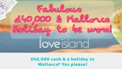 ITV Love Island Prize Draw Competition 2019