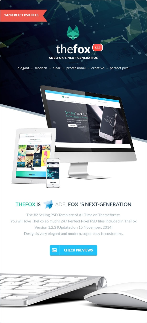 thefox best psd template download introduction