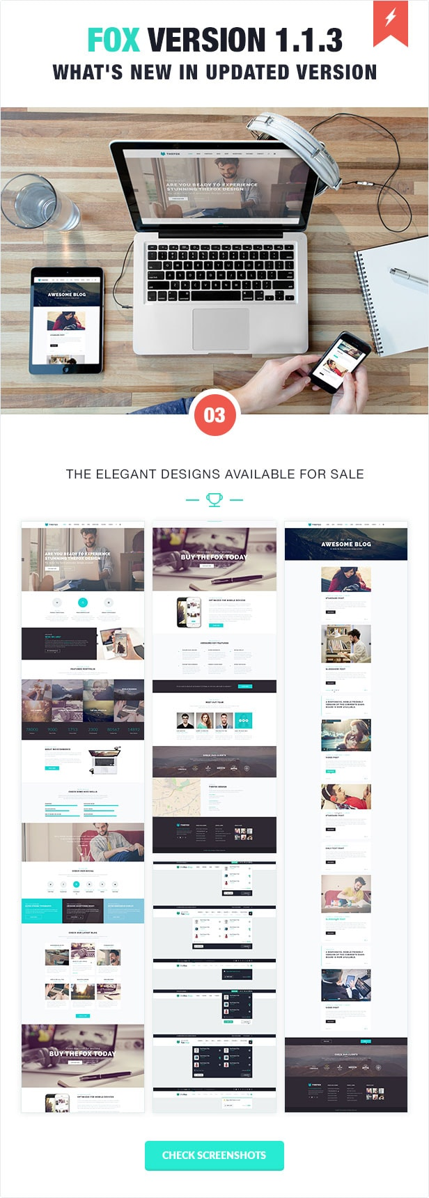 thefox psd template - the best on Envato Market - Themeforest's trending theme