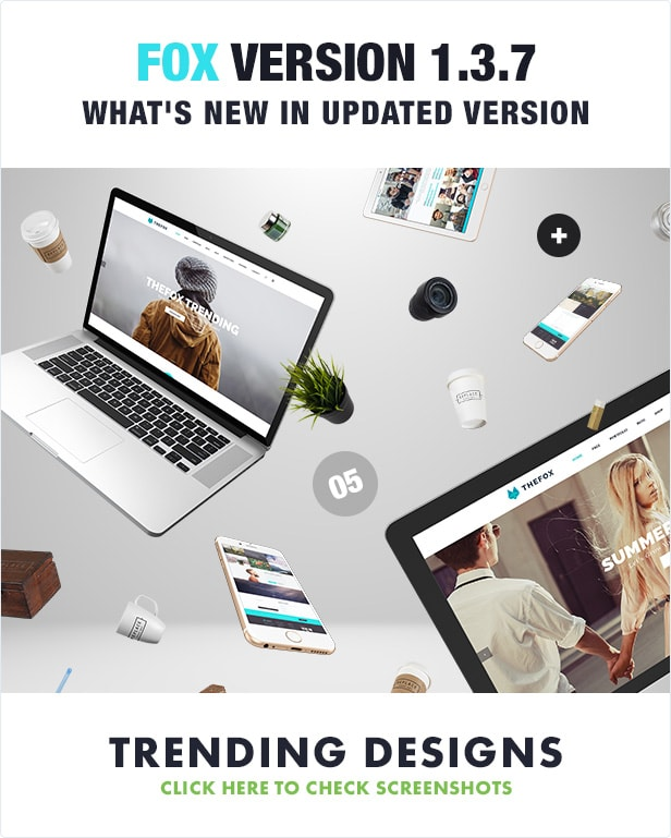 the best psd template - thefox psd - version 1.3.7