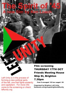 Left unity screening 1