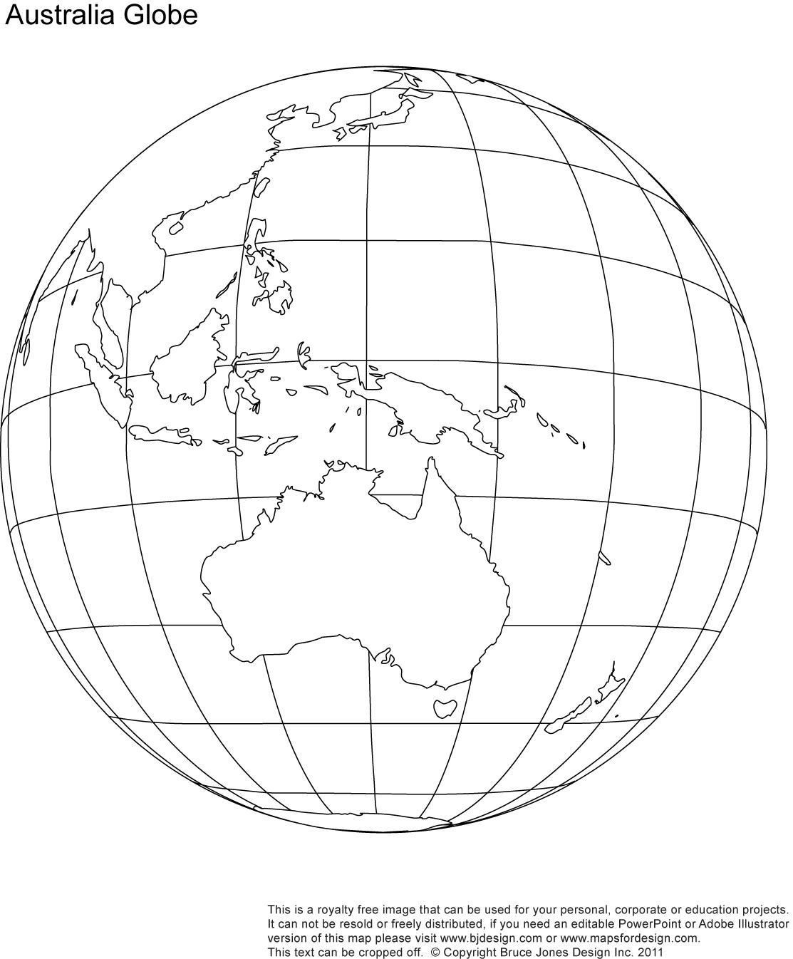 Printable Blank World Globe Earth Maps Royalty Free
