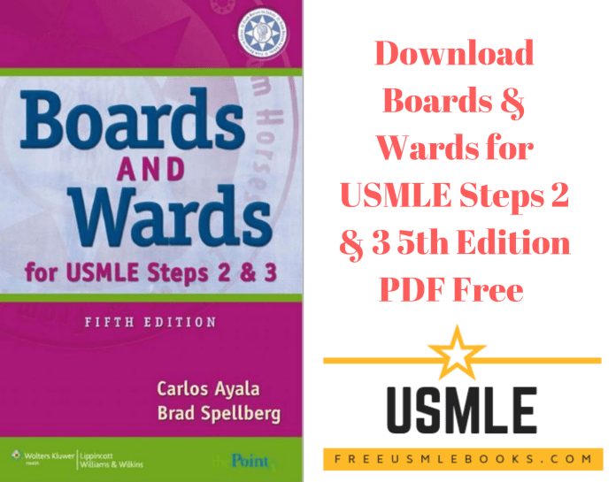 Download Boards & Wards for USMLE Steps 2 & 3 5th Edition PDF Free
