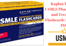 Download Kaplan Medical USMLE Pharmacology and Treatment Flashcards 1st Edition PDF Free