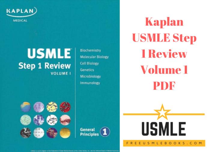 Download Kaplan USMLE Step 1 Review Volume 1 PDF Free