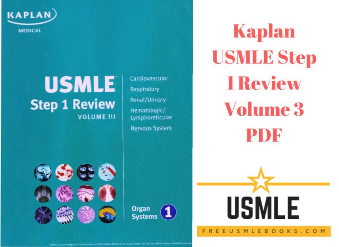 Download Kaplan USMLE Step 1 Review Volume 3 PDF Free